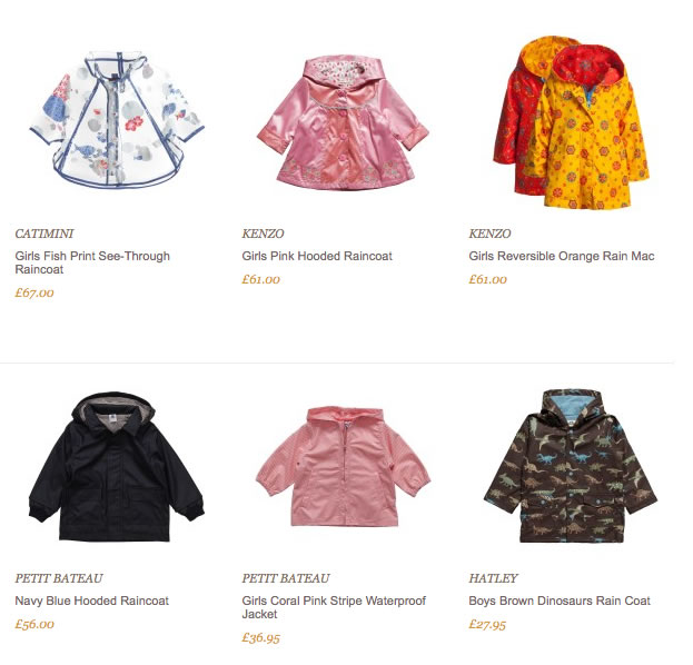 Designer kids raincoats | Designer kids clothes