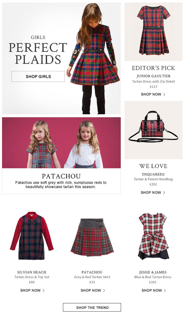 Girls perfect plaids look